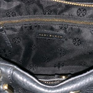 Tory Burch Bags - Tory Burch Landon Satchel Black Pebbled Leather